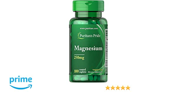 Amazon.com: Puritans Pride Magnesium 250 Mg Caplets, 100 Count: Health & Personal Care