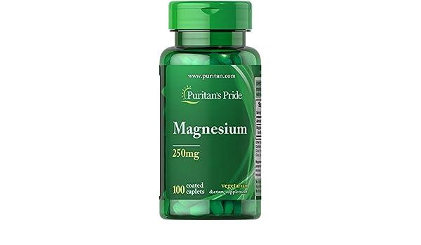 Magnesio 250mg 100 Tabletas. Puritans Pride 1 und.: Amazon.es: Salud y cuidado personal