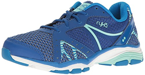 Ryka Women's Vida RZX Cross-Trainer Shoe, Blue/Mint, 9 M US (Shoes Training Cross Ryka)