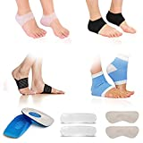 Plantar Fasciitis Kit-14PCS,Plantar Fasciitis Sock, Plantar Fasciitis Sleeve Ankle Brace, Heel inserts Cushion & Grips Support for Metatarsal Pain, Foot Arch Support, Relieve Foot Pain