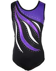 DoGeek Gymnastics Leotards Girls Leotards Ballet Shining Dance Wear one-Piece Great Gifts