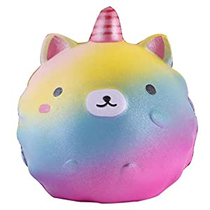 Anboor 4.3″ Squishies Unicorn Panda Jumbo Slow Rising Kawaii Scented Soft Colorful Animal Squishies Toys Color Random,1 Pcs