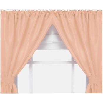Carnation Home Fashions Vinyl Bathroom Window Curtain White