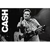 Johnny Cash Giving the Finger Classic Rock Country Music Poster Print 24x36