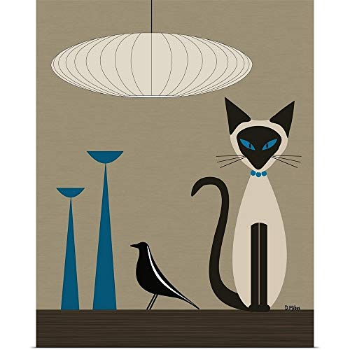GREATBIGCANVAS Poster Print Entitled Siamese with Eames for sale  Delivered anywhere in USA