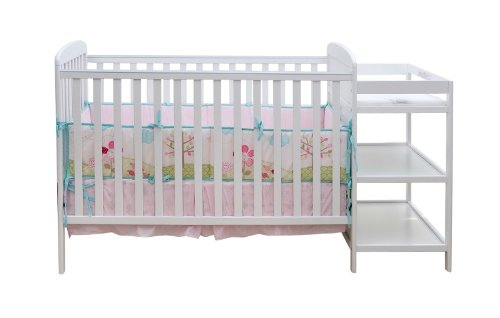 dream on me 4 in 1 full size crib and changing table combo white furniture baby toddler. Black Bedroom Furniture Sets. Home Design Ideas