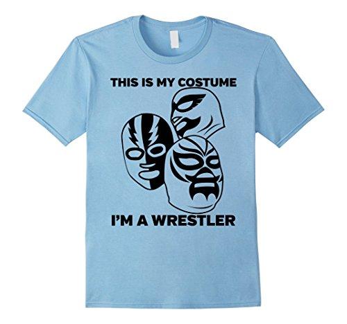 Female Wrestler Costumes (Mens Wrestler Halloween Costume Tshirt - Men Women Youth Sizes Medium Baby Blue)