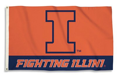 University of Illinois - 3' x 5' NCAA Polyester Flag