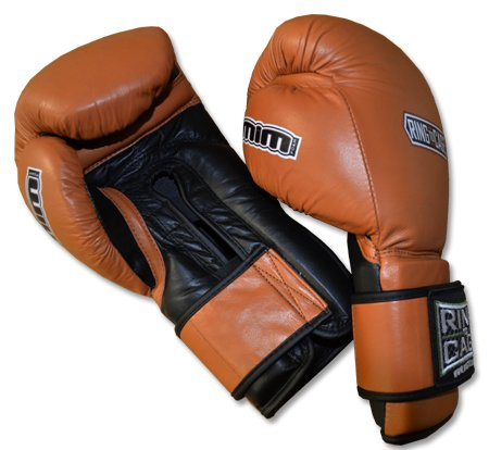 20oz, 22oz, 24oz Deluxe MiM-Foam Sparring Gloves - Safety Strap , Top Rated Boxing Training Gloves, for Boxing, MMA, Muay Thai, Kickboxing (16oz, Tan/Black) by Ring to Cage