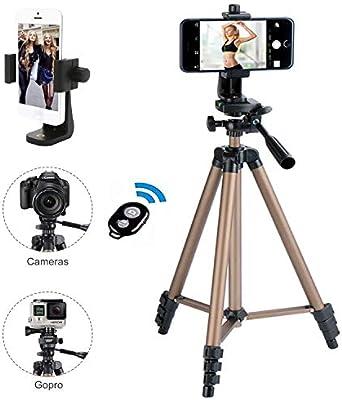 Trípode para cámara de iPhone, con soporte para teléfono móvil y ...