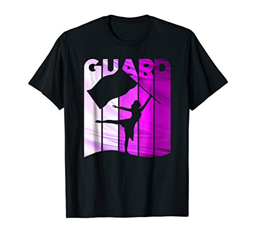Color Guard - Winter Guard Flag T Shirt in Purple