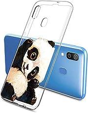 Oihxse Funda Samsung Galaxy J7 MAX, Ultra Delgado Transparente TPU Silicona Case Suave Claro Elegante Creativa Patrón Bumper Carcasa Anti-Arañazos Anti-Choque Protección Caso Cover (A15)