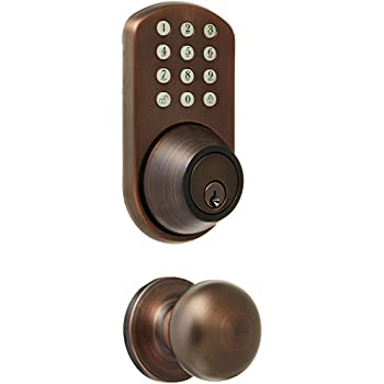 Best of MiLocks TFK 02OB Digital Deadbolt Door Lock and Passage Lever Handle bo with Keyless Entry Photos - Modern keyless exterior door lock Lovely
