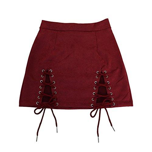 et Crayon Hiver Casual Femme Courte Jupe pour Sfit Bordeaux Automne qU61R0