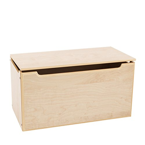 Max & Lily Natural Wood Kid and Toddler Toy Chest, Natural by Max & Lily