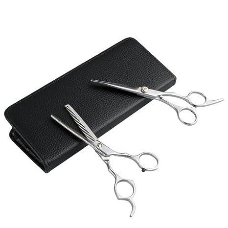 Set 2 Tijeras Peluqueria profesional para cortar el pelo: Amazon.es: Salud y cuidado personal