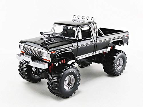 """Greenlight 13538 1: 18 Kings of Crunch - 1979 Ford F-250 Monster Truck - Black with 48"""" Tires - New Tooling"""