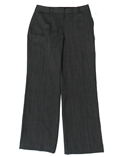 (Jones New York Collection Petite Stretch Dress Pants Flare Black/Gray)