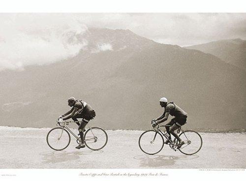 Coppi Bartali, 1949 Presse E Sports Vintage Cycling Tour de France Print Poster 30x22