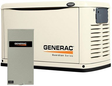 Generac 6729 Guardian Series, 20kW Air Cooled Standby Generator, Natural Gas/Liquid Propane Powered, Steel Enclosed, with 200-Amp Service Rated Switch (Discontinued by Manufacturer)