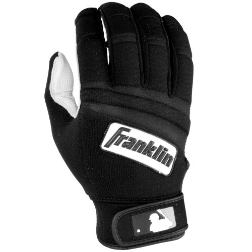 Franklin Sports Cold Weather Youth ProBatting Gloves, Pearl/Black, Large