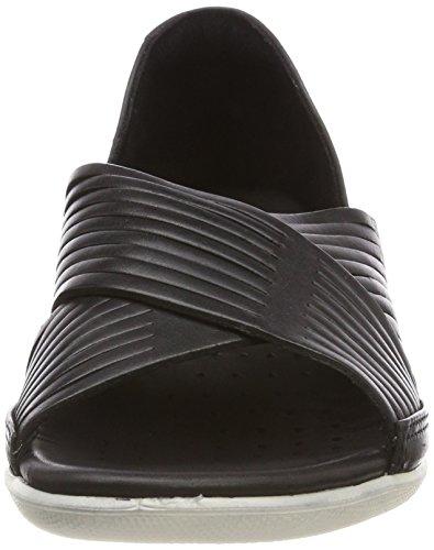 Ecco Signore Lampeggiano Sandali Aperti Nero (nero)