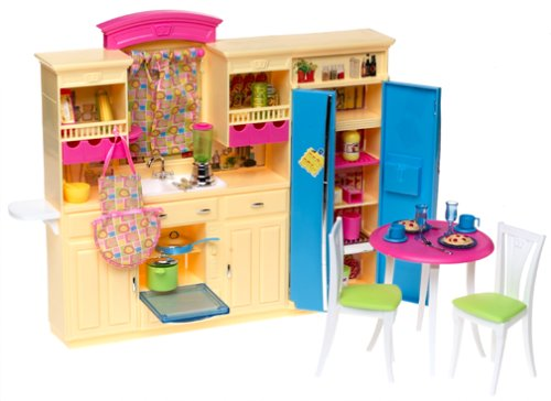 Amazon Com None Barbie Decor Collection Kitchen Playset Toys Games