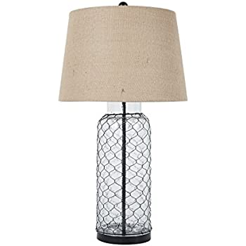 Amazon ashley furniture signature design sharmayne farmhouse ashley furniture signature design sharmayne farmhouse table lamp l430114 clear aloadofball Choice Image