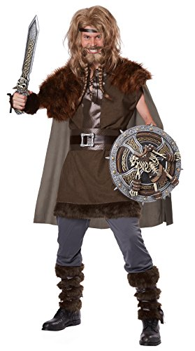California Costumes Men's Mighty Viking Norse God, Brown, -