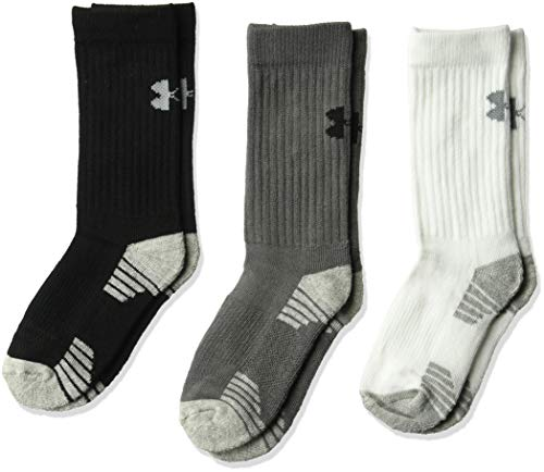 Under Armour Boys HeatGear Crew Socks (3 Pack)
