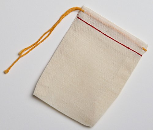 cotton muslin drawstring natural 3x4 product image