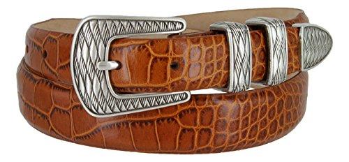 S8155 Men's Genuine Italian Leather Dress Designer Belt(ATAN,42) (Italian Genuine Belt)