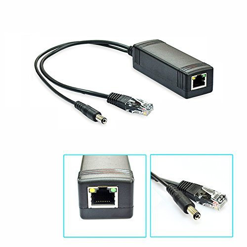 iCreatin Active 12V PoE power over ethernet Splitter Adapter, IEEE 802.3af Compliant 10/100Mbps, 12V output by iCreatin (Image #1)