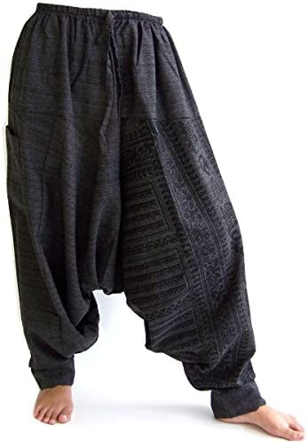 Siamrose Harem Pants for Men and Women, Baggy Pants, Aladdin Pants, Yoga Pants, One Size