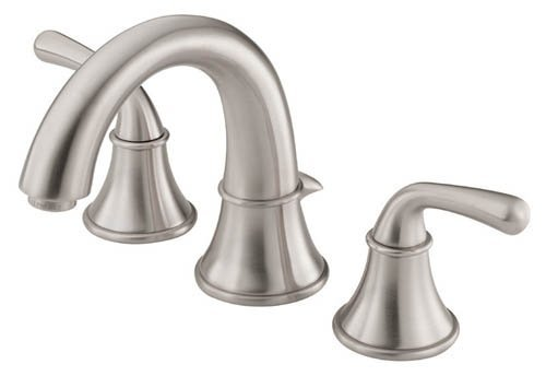 Danze D304056BN Bannockburn Two Handle Widespread Lavatory Faucet, Brushed Nickel by (Danze Bannockburn Widespread Lavatory Faucet)