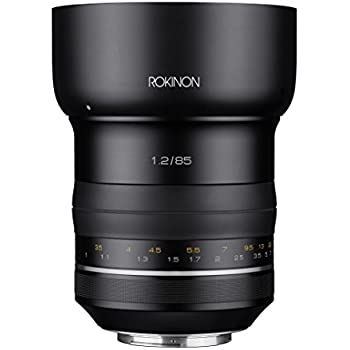 Rokinon Special Performance (SP) 85mm f/1.2 High Speed Lens for Canon EF with Built-in AE Chip, Black