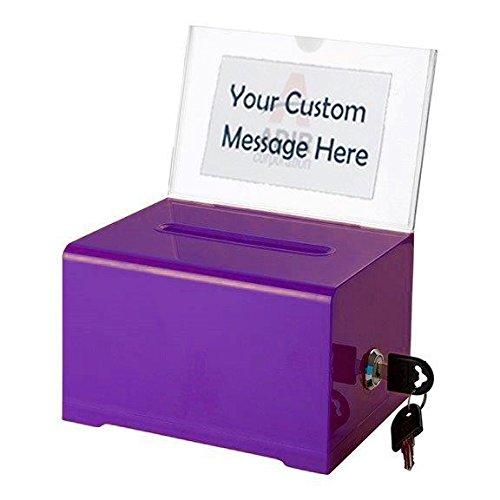 Adir Acrylic Donation & Ballot Box With Lock (6.25