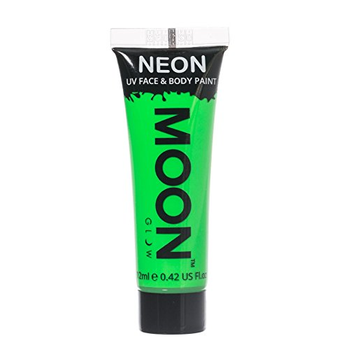 Moon Glow - 0.42oz Blacklight Neon UV Face & Body Paint - Intense Green (Green Neon Paint compare prices)