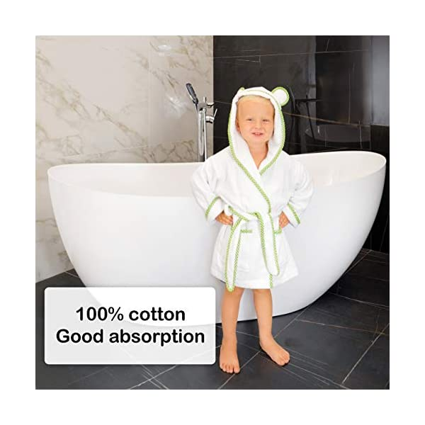 Lovely Hippo - Accappatoio bambini : bambina e bambino, 100% cotone Oeko-Tex senza sostanze chimiche, design francese 2