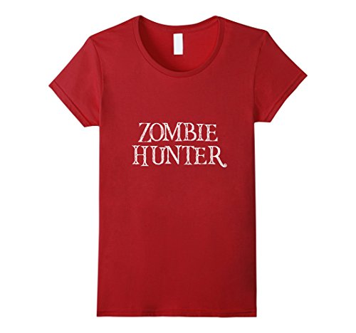 Womens Zombie Hunter TShirt Scary DIY Easy Halloween Costume Medium (Scary Halloween Costumes Diy)