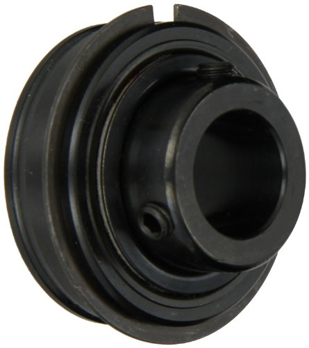 """Sealmaster ERX-24 LO Wide Inner Ring Ball Bearing, Low Drag, Setscrew Locking Collar, Lo Drag Felt Seals, Special Channeling Grease Lubrication, 1-1/2"""" Bore, 80mm OD, 1-15/16"""" Width"""