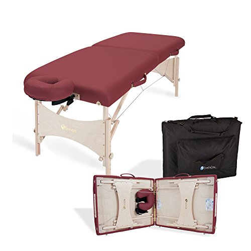 EARTHLITE Harmony DX Portable Massage Table Package – Eco-Friendly Design, Deluxe Adjustable Headrest, Hard Maple, Aircraft Quality, up to 600 (Massage Table Manufacturers)