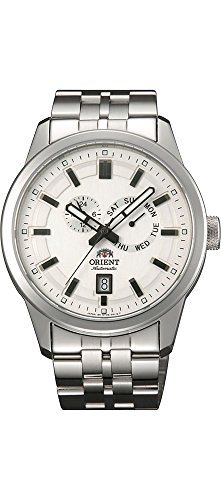 Orient SET0S002W Men's Trooper Stainless Steel White Dial Multifunction Day Date Automatic Watch