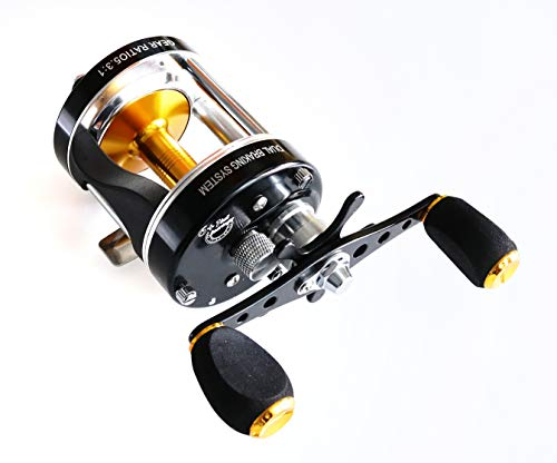 Mingyang MC500 Baitcasting Reels Fishing Tackle 6 BB Right handed Gear Ratio 5.3 1 Snakehead fishing reel Black color