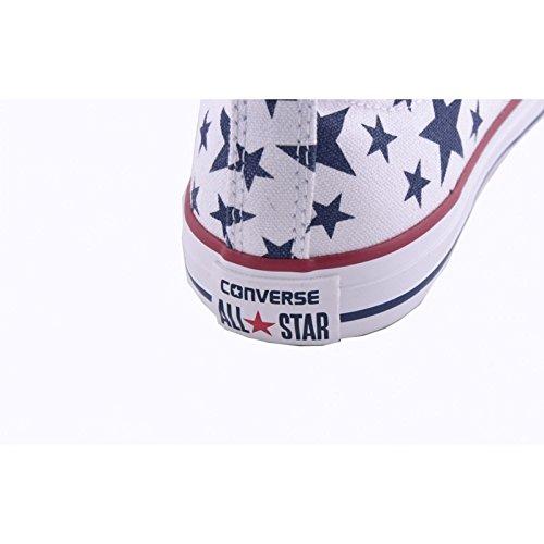 648364C CONVERSE 27/34 ct zapatos de bebé impresión de la estrella blanca todo unisex hi estrella estrella Bianco