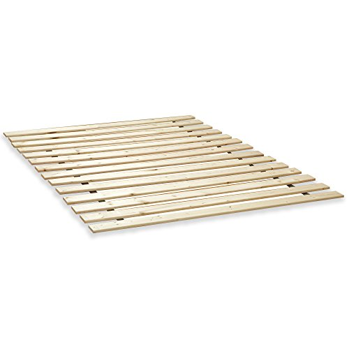 Classic Brands Heavy-Duty Solid Wood Bed Support Slats for Any Mattress Type | Bunkie Board Frame, King