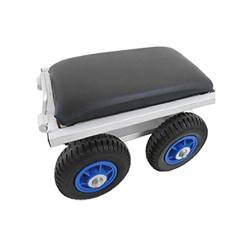 【2個】 農作業用 アルミカート タイヤ付 アルミチェア シN 直送 B07K4V166V