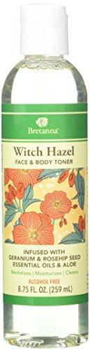 BretanBretna Witch Hazel Toner Geranium Rosehip, 8.75 fl oz ()