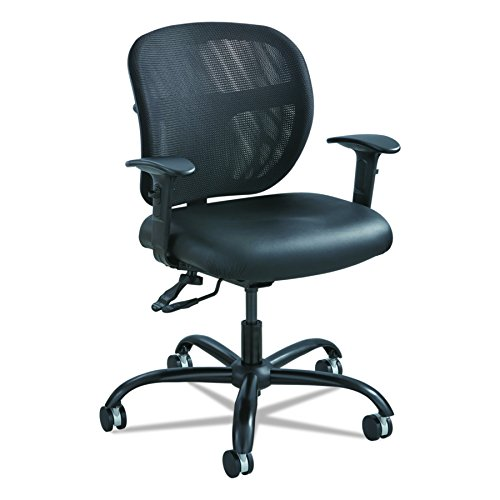 Safco Products 3397BV Vue Intensive Use Mesh Task Chair (Optional arms sold separately), Black Vinyl by Safco Products