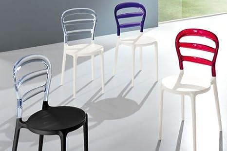 Sedie Trasparenti Colorate.Friulsedie 4x Sedie S389 Fast Design Minimalista Trasparenti